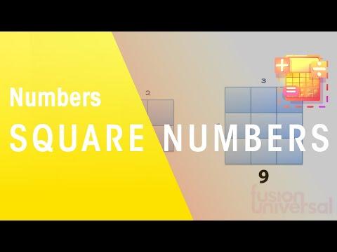 Mathe - Lernen, wie man quadratische Zahlen verwenden - die virtuelle Schule - UK