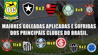 As maiores goleadas APLICADAS e SOFRIDAS dos principais clubes...