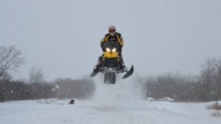 9. Snow Day Sleding- MXZ-X 800 E-TEC+Adrenaline 600 E-TEC+TNT 500ss