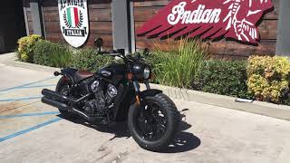 7. 2019 Indian Scout Bobber ABS in Thunder Black for Sale in Orange County, CA