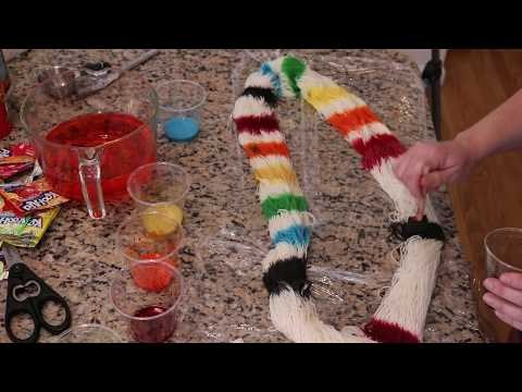 Handpainting Yarn with Foam Brushes and Kool-Aid: A Mommy and Me Craftventure