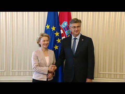 Ούρσουλα Φον Ντερ Λάιεν:«Χώρα-πρότυπο η Κροατία»