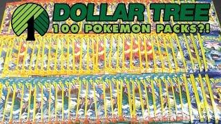 OPENING 100 PACKS OF DOLLAR TREE POKEMON CARDS!! by The Pokémon Evolutionaries