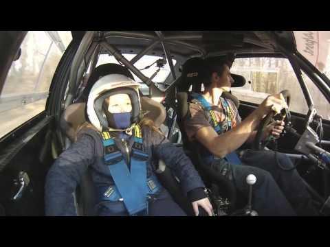 Jozef Beres jun. (Audi S1) a na prawym 10letnia Michaela