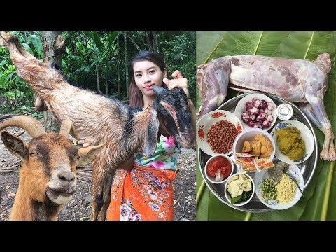 Primitive Technology: Survival Skill Cooking Curry Goat Recipe | Wilderness Technology