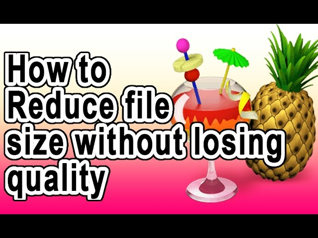 reduce pdf size without losing quality