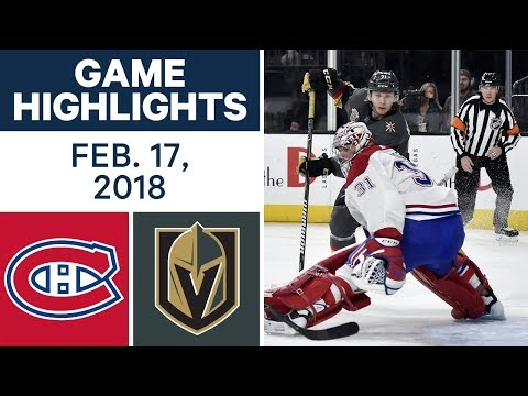 Video: NHL Game Highlights | Canadiens vs. Golden Knights - Feb. 17, 2018