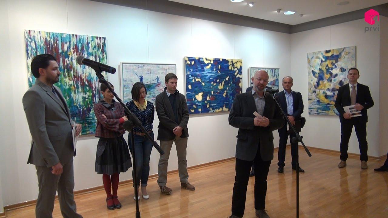 Otvorena izložba troje splitskih umjetnika  Hod po rublju sredozemlja