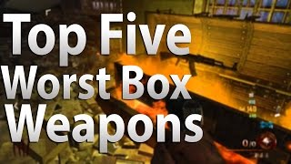 Video TOP 5 Worst Box Weapons in Call of Duty 'Zombies' - Black Ops 2, Black Ops & WAW Zombies MP3, 3GP, MP4, WEBM, AVI, FLV Juli 2019