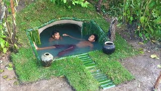 Video Build Secret Underground Swimming Pool N Build Waterfall on it MP3, 3GP, MP4, WEBM, AVI, FLV Desember 2018