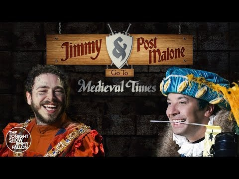 Post Malone and Jimmy Fallon Go to Medieval Times