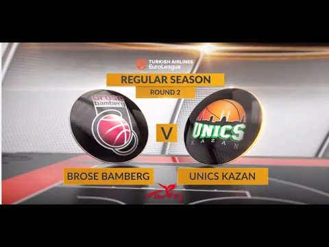 EuroLeague Highlights RS02: Brose Bamberg 89-86 Unics Kazan