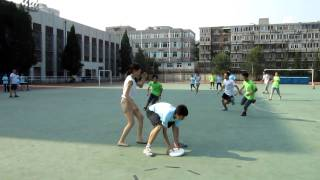 Chinese Students in China playing Ultimate Frisbee