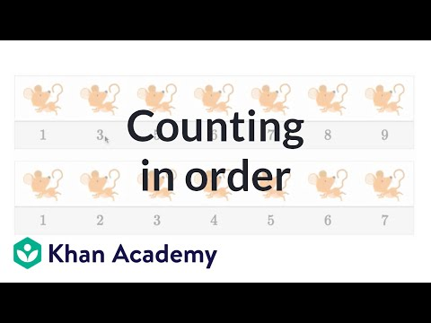 Counting In Order Video Counting Khan Academy