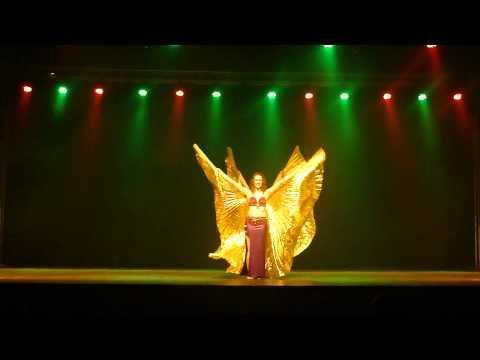 Grupo Luzes do Oriente - 9º Garopaba em Dança - Véu Wings (Juliana e Larissa)