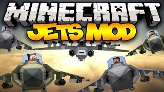 Minecraft: JETS! (Fighter Jets, Harriers, Missiles, Mini Guns,&MORE!) | Mod Showcase