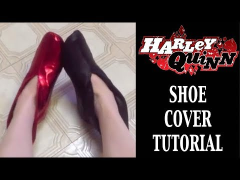 Harley Quinn Costume Tutorial - Shoe Covers