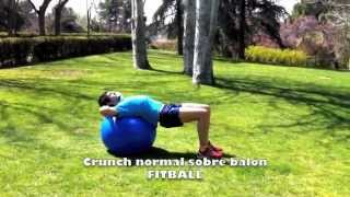 Crunch normal sobre fitball
