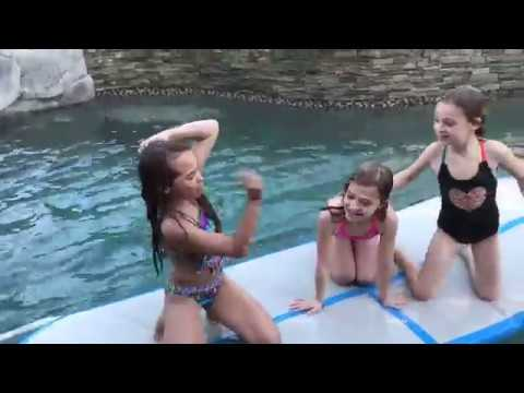 Pool Party With The AirTrack, Gymnastics In The Pool