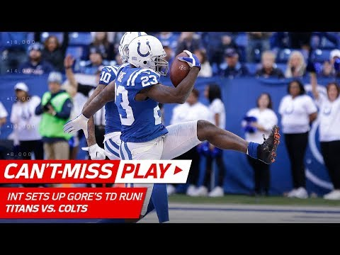 Video: Indy's Wacky INT Off Mariota's Pass Sets Up Frank Gore's TD Run! | Can't-Miss Play | NFL Wk 12