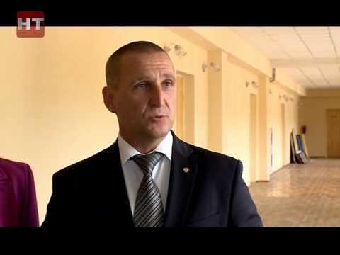 Специальная комиссия мэрии проинспектировала ход ремонтных работ в одном из образовательных учреждений Великого Новгорода