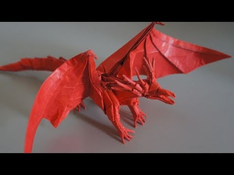 Como hacer un dragon de origami - Imagui