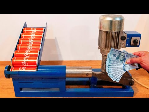 DIY Recycling Machine for Aluminium Cans (Make money from your aluminum cans)
