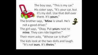 Possessive Pronouns (mine, yours), Lessons for Beginners 57