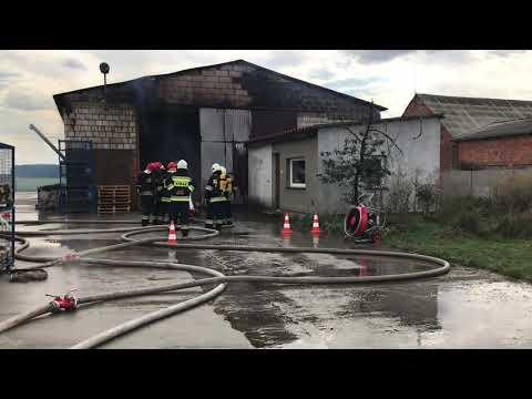 Wideo1: Pożar w Belęcinie Nowym
