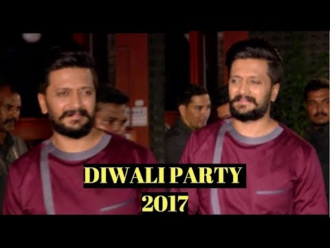 Riteish Deshmukh At Arpita Khan's Diwali Party 2017