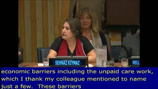 Sehnaz Kymaz's intervention during the 4th Meeting of the HLPF 2017:UN Web TV - http://webtv.un.org