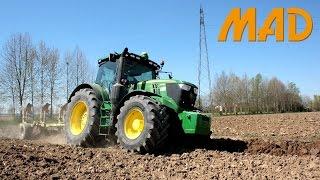 Video John Deere 6215R: plowing, harrowing and transport MP3, 3GP, MP4, WEBM, AVI, FLV November 2017
