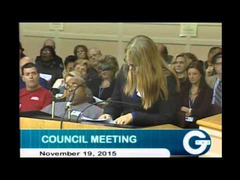 "Woman at Lexington, KY City Council Meeting - ""I do no sex."""