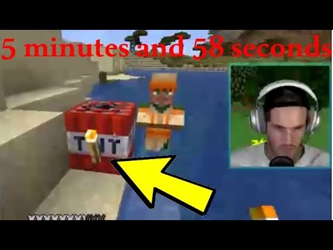Pewdiepie Being A Minecraft Noob For 6 Minutes Straight... (Minecraft Highlights) Part 1
