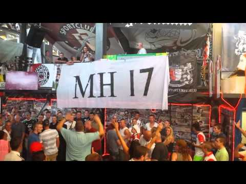 tribute - Feyenoord - Real Sociedad 23.07.2014 WOW AMAZING TRIBUTE from the Feyenoord supporters to the victims of the MH17! You'll Never Walk Alone!