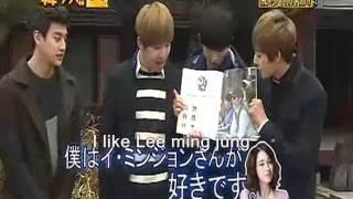 [ENG] Soohyun likes lee min jung & Eli likes suzy!