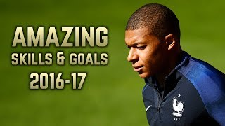Kylian Mbappe amazing dribbling skills, goals and assists in season 2016-2017 with Monaco.