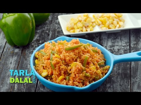 Mexican - Mexican Fried Rice, quick and easy rice! http://www.tarladalal.com/Mexican-Fried-Rice-%28-Quick-Recipe%29-1253r http://www.facebook.com/pages/TarlaDalal/2074...
