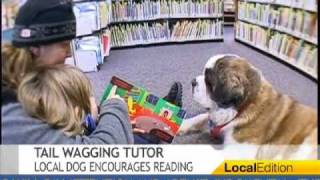 Therapy Dog Encourages Reading