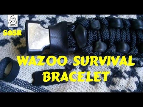 Wearable Survival Kit EDC Wazoo Survival Bracelet Review- School of Self Reliance