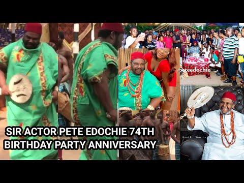 Jubilation As Destiny Etiko Yul Edochie Rejoice With Pete Edochie On His 74th Birthday Ceremony