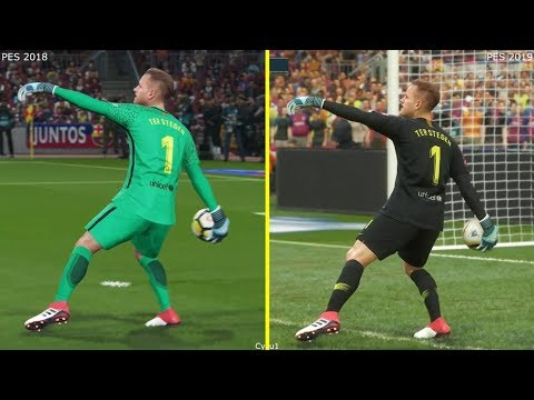 PES 2019 Vs 2018 Graphics Comparison