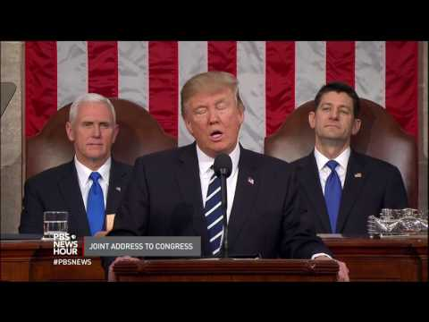 President Trump opens address to Congress by condemning 'hate and evil in all its very ugly forms'