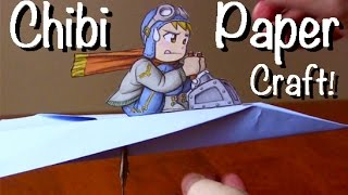 Drawing Time Lapse: Chibi Pilot (Paper Airplane)