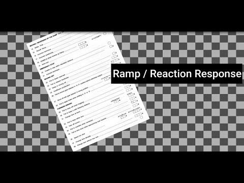 Ramp or Reaction Response - (TP Assessment Checklist) Episode 6