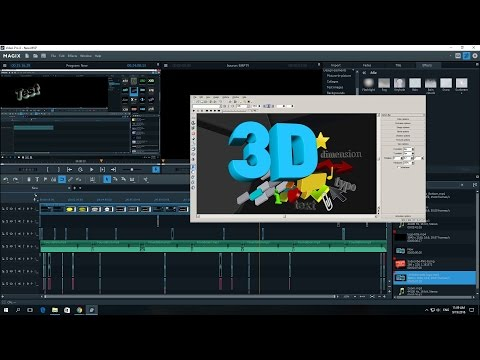 MAGIX Video Pro X8 3D Logo Text And Title Test Review