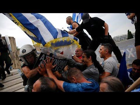 Χημικά και επεισόδια στο συλλαλητήριο για τη Μακεδονία…