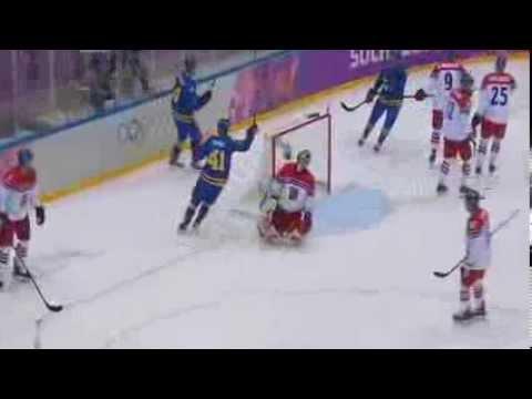 Patrik Berglund Goal – Sweden v Czech Republic – 2014 Hockey Olympics