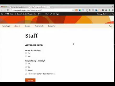 Gravity Forms Advanced (WordPress)