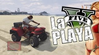 Un dia en la playa !! | GTA V (Grand Theft Auto 5)